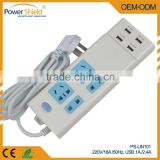 Universal /Middle East/ China Portable Power Strip 4 Outlets Home/Office Surge Protector Travel Charger with 4 AC Plugs