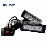 10 Modes 4 LED Car Strobe Lights 2*4LED Flash Warning Light Red And Blue LED rechargeable Emergency Light