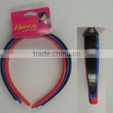 3PCS WIDE HARD PLASTIC HEADBAND