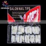 500 Pcs Clear French Stiletto False Nail Acrylic Tips