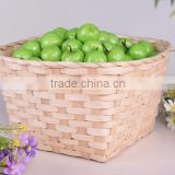 Speciallty provite handmade knit natural bamboo basket for fruit or sundries