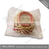 wholesale fragrance rose bamboo basket incense cones