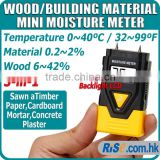 3-in-1 Wood Building Material Thermometer Timber Concrete 2 Pin Moisture Meter
