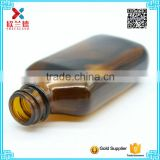2016 high quality 110ml amber square cough syrup bottle for sale