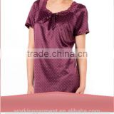 Wholesale Women's Printed Nightdress Cheap Stain Nightshirt