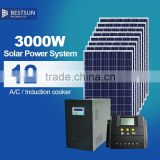 solar ground mounting system 3kw, solar electricpower systems, complete solar system kit