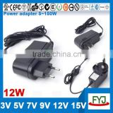 wall mounted power adapter 12v 1a 12v 500ma for Modem