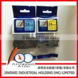 TZe-551 TZe-651 24mm laminated label tape for compatible brother p-touch printer