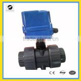2 way PVC UPVC CPVC 2 inches Double Union motorized ball valve AC24V 220V 100N.m with manual override