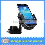 Universal 360 Swivel Car Mount Windshield Cradle Suction Holder Stand with QI wireless charger