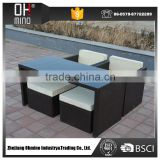 SF-0171 hot sell cube 8-seater rattan dining table garden furniture