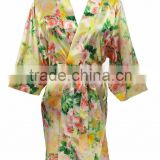 Fancy Personalized Short Wedding Party Sexy Floral Fashion Satin Robe