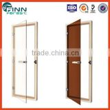 Size can customize colourless and dark brown steam sauna glass doors with aluminium and tempered glass sauna door