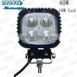 Good Quality 40W Led Work Light 12V with High Intensity 10W Leds for Offroad Vehicles, Truck, SUV, Jeep