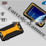CSP-708M 7 inch Android handheld 1D/2D barcode scanner UHF RFID tablet PC for garments production line