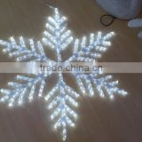 Hanging Christmas ornament 3d motif snowflake lights,light up led snowflake wand winter princess hallow