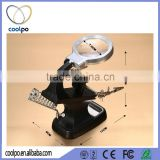 10 LED Folding Stand Desktop Magnifying Glass with LED Light with clip