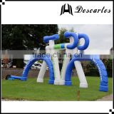 Australia 10m long white&blue giant inflatable replica bicycle for large events