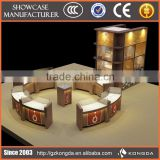 Jewellery showroom furniture design wooden wall mounted jewelry display