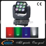 Newest 9*10W RGBW 4in1 LED's 3x3 Matrix Beam LED Moving Head DJ Club Lights