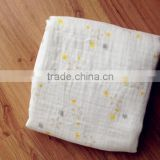 muslin baby swaddle bamboo organic cotton baby blankets cotton fabric