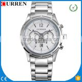 CURREN/CW018 Curren Luxury Brand Full Steel Sport Watch Casual Watches Men quartz chronograph Men's Relogio Masculino