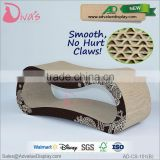 Wholesale Pet Toy Product Corrugated indoor Cat House Cardboard Cat Scratcher with Catnip
