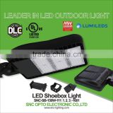 UL cUL DLC list roadway lighting 150w modular design led shoebox light by china manufacturer