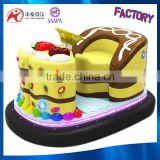 2016 cheap price portable playground equipment-cake bumper car game machine