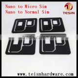 China factory making originaly plastic nano mobile standardsim card adaptor for iPhone 4 4S Samsung HTC