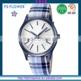 FS FLOWER - Fashion New Watch 2016 Men Cloth Strap White Dial Watch High Quality Shenzhen Watch Factory Good Faith Company