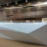 Good quality solid surface reception desk,L shape reception desk,white reception desk,solid surface countertop