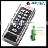 Waterproof Two doors standalone access control wiegand 125KHz/13.56MHz rfid reader