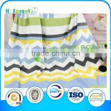 Green Grey Yellow Black Stripe Baby Blanket for Travel