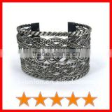 Unique braided metal wire copper alloy bangle