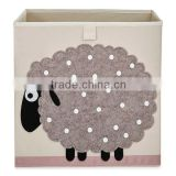 Fabric closet organizers storage cube, Sheep storage box foldable