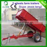Agricultural hydraulic small dump trailer