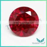 Best price 12mm round brilliant cut 5# synthetic corundum dove blood lab created ruby diamond