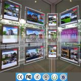 2016 real estate sign frames advertising window backlit led light pockets