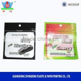 Aluminum foil chewing gum packaging bag with zipper