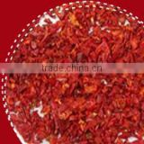 2014 new crop 6-8mesh American Red chilli crushed with salt and oil
