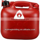 OEM blow molding plastic HDPE Fuel jerry cans with spout gasoline can, fuel can