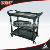 Black Color Plastic Mutifunction Restaurant Food Trolley/Beverage Trolley/Service Trolley