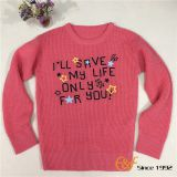 Ordinary Style Girl Sweater with Embroidery