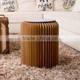 Green House Present Paper Furniture Foldable Paper Stool Portable for Travel