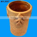 Clay flower planter shaped terracotta ice bucket