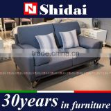 Contemporary Light Navy Fabric Upholstery Sofa And Loveseat Set G183-RE