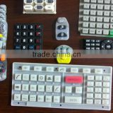 Custom Good quality silicone rubber keypad with silk-screen for Remote control