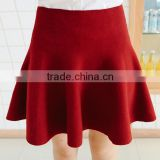 custom burgundy red grey sex mature lady fashion knitted short skirt
