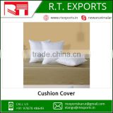 Private Label Square Shape and Plain Dyed Pattern White Cotton Cushion Covers